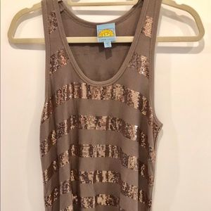 C & C California sequin tank